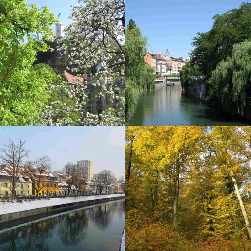 Four seasons in Ljubljana