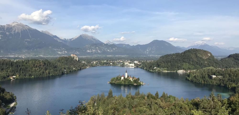 Vandrovc-Globetretter, Hiking in Slovenia, Bled Lake