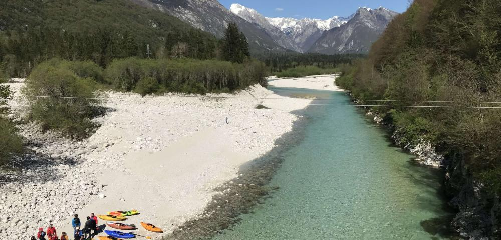 Vandrovc-Globetretter, Hiking in Slovenia, Soča Valley, kayaking and rafting